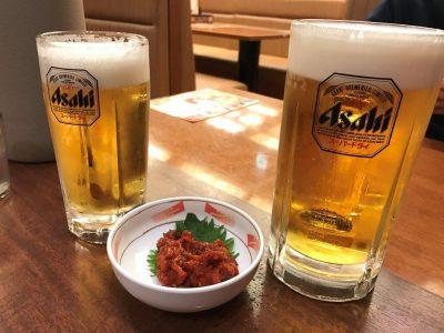 チャンジャと生ビール
