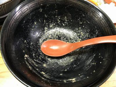 レギュラー豚骨醤油ラーメン・完食