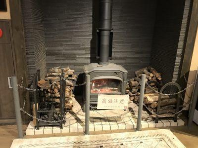 吟湯湯治聚楽・暖炉