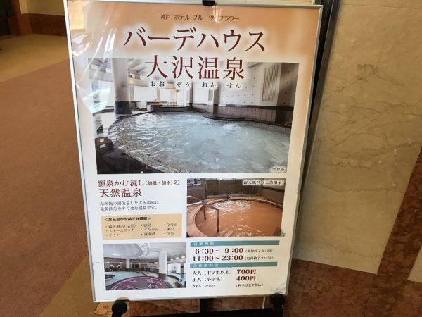 バーデハウス 大沢温泉の看板