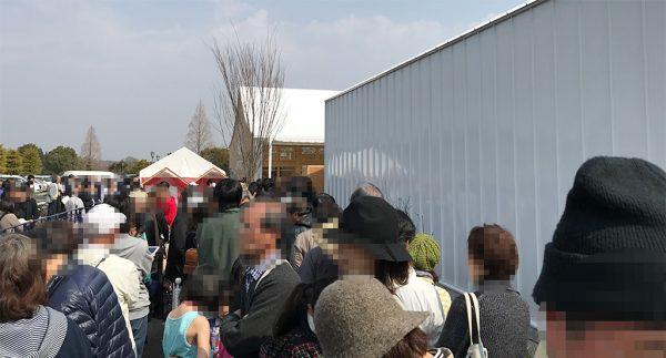 道の駅オープン切符・行列