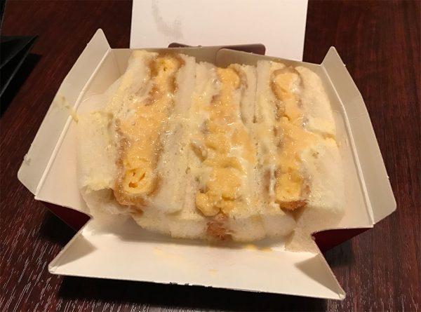 フワフワ卵のカツサンド