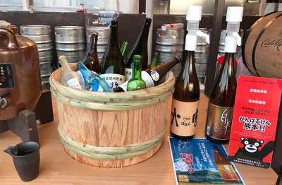 日本酒・焼酎・梅酒コーナー