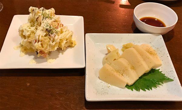 筍の刺身&ポテトサラダ