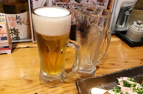 生ビールおかわり!