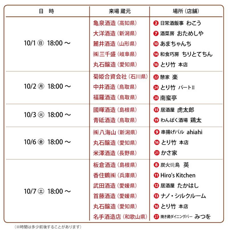 プレミアム試飲 阪急石橋美酒フェスタ2017