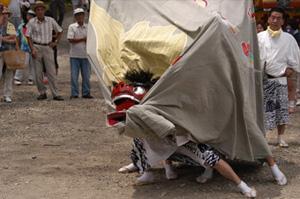河内神社 古座獅子舞