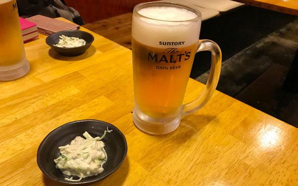 ビール 付き出し
