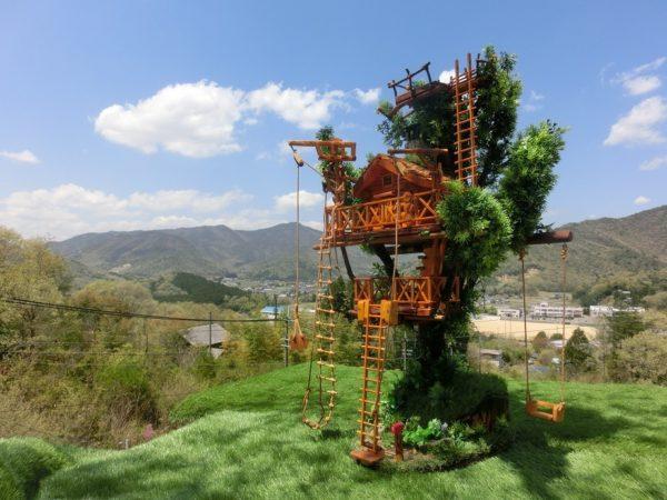 ミニチュアツリーハウス 見張り台のあるツリーハウス