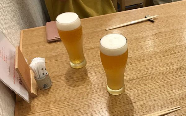 宝塚バル 和心ダイニング 隆 生ビール