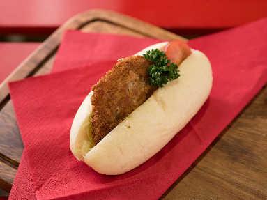 ふじ珈琲 下関ドッグ くじらドッグ おからパン