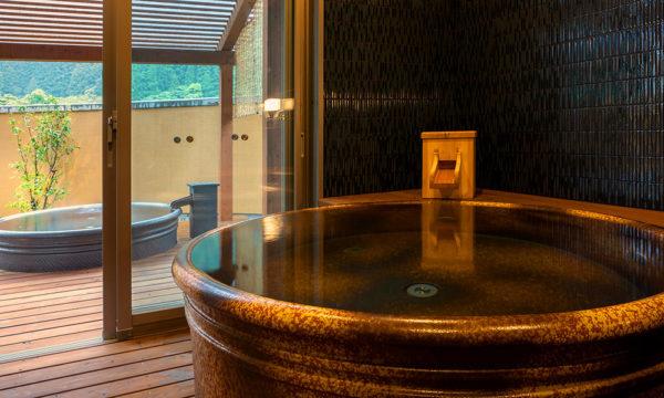 高知 北川村温泉 ゆずの宿 天然温泉 貸切風呂 陶器風呂
