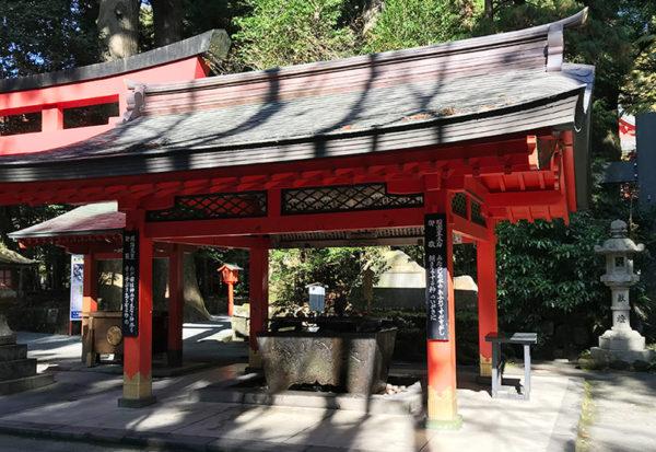 箱根神社 手水舎