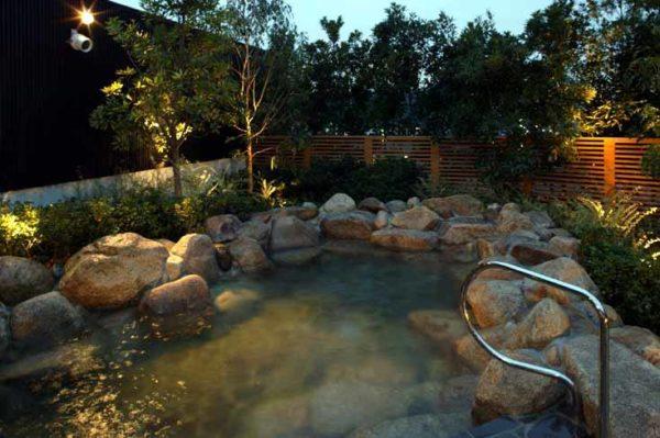 神戸 垂水 ジェームス山 天然温泉 月の湯船 露天風呂 海水風呂