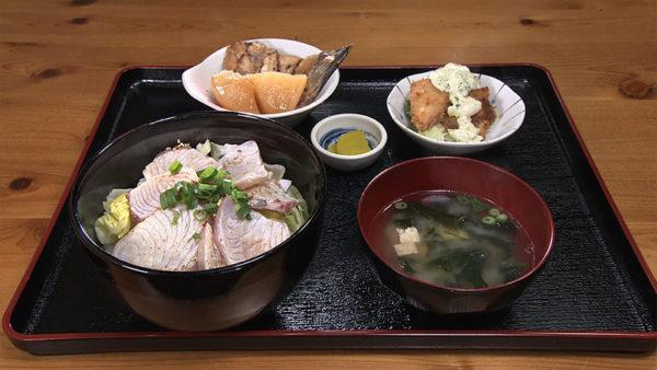宇和島 戸島 とじま亭 炙りブリ丼定食