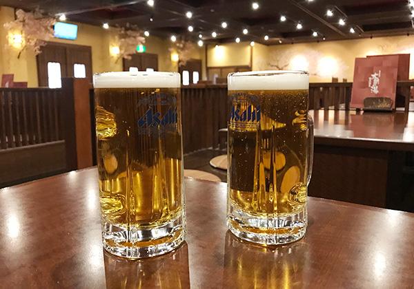 フードコート 生ビール 有馬温泉 太閤の湯