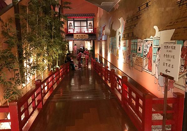 有馬温泉 太閤の湯 大浴場までの廊下