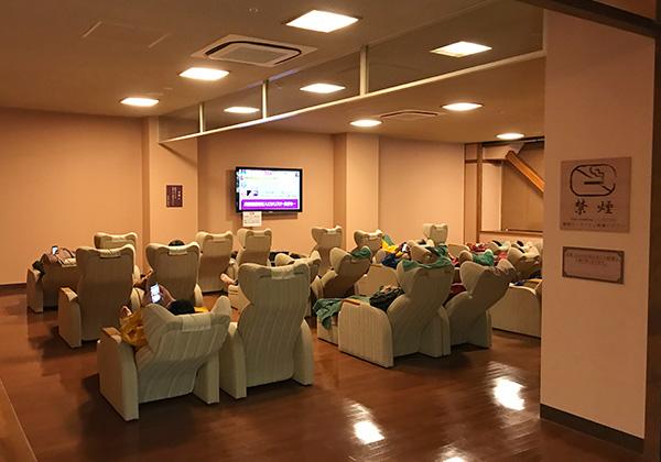 リクライニングシート 休憩コーナー 太閤・ねねのお休み処 有馬温泉 太閤の湯