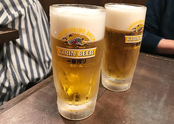 うおとり笑店 生ビール 中ジョッキ 宝塚バル 2019 逆瀬川 小林 仁川