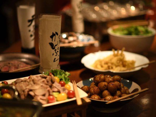 磐梯熱海温泉 湯のやど 楽山 かまど料理 おばんざい
